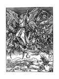St Michael Battling with the Dragon, 1498 Giclee Print by Albrecht Durer