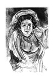 Study of an Italian Girl, C1880-1882 Giclee Print by Adolph Menzel