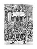 Title Page of Andreas Vesalius 'De Humani Corporis Fabrica, Showing Vesalius Dissecting Body, 1543 Giclée-Druck von Andreas Vesalius