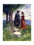 They Took a Sad Farewell of Each Other, 1746 Giclee Print by AS Forrest