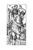 St Christopher Carrying the Infant Christ, 1525 Giclee Print by Albrecht Durer