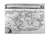 Geographic Chart of the World after the Deluge, 1675 Giclee Print by Athanasius Kircher