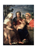 Virgin and Child with Saints Catherine, Elisabeth and John the Baptist, 1510S Giclee Print by  Andrea del Sarto