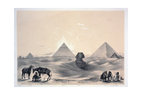 Pyramids of Giza, 1843 Giclee Print by Augustus Butler