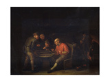 Flemings Playing Dice, 17th Century Giclee Print by Adriaen Van Ostade