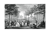 The Promenade, Paris Giclee Print by Augustin De Saint-aubin