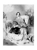 Queen Victoria, 1838 Giclee Print by Alfred Chalon