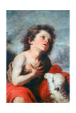 St John the Baptist as a Child, C1665 Giclee Print by Bartolomé Esteban Murillo