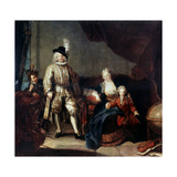 Portrait of Baron Von Erlach with His Family, C1710 Giclee Print by Antoine Pesne