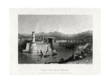 Entrance to the Port of Marseilles, France, 1875 Giclee Print by A Willmore