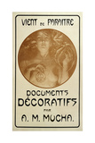 Advertisement for the Monograph Decorative Documents by Alphonse Mucha, 1902 Giclee Print by Alphonse Mucha