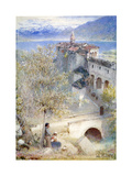 Locarno, Lake Maggiore, 1905 Giclee Print by Albert Goodwin