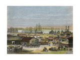 Mississippi River, New Orleans, Louisiana, USA, C1880 Giclee Print by  Barbant