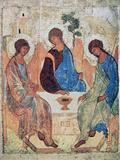 The Trinity of Roublev, C1411 Giclée-tryk af Andrey Rublyov