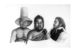 Portraits of Chiefs of the Sandwich Islands, 1819 Giclee Print by Alphonse Pellion