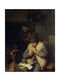 A Flautist, C1660 Giclee Print by Adriaen Van Ostade