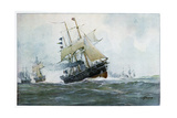 French Frigate, La Surveillante, 1870 Giclee Print by Albert Sebille