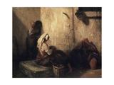 Italian Street Scene, 1849 Giclee Print by Alexandre Gabriel Decamps