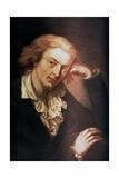 Johann Christoph Friedrich Von Schiller, German Poet, Dramatist and Historian, C1785 Giclée-tryk af Anton Graff