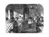 Palace Hotel Car, Union Pacific Railroad, C1870 Giclee Print by AR Ward