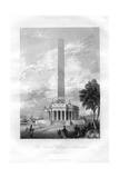 The National Washington Monument, Washington DC, USA, 1855 Giclee Print by AC Warren