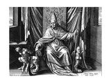 Pope Gregory I, the Great, C1540-1567 Giclee Print by Adriaen Collaert