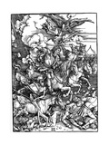 The Four Horsemen of the Apocalypse, 1498 Giclée-tryk af Albrecht Durer