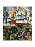 Landscape with the Trinity-Sergius-Monastery, 1920 Giclee Print by Aristarkh Lentulov