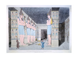 The Interior of the Temple at Ybsombul in Nubia, 1820 Giclee Print by Agostino Aglio