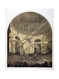 St Paul's Cathedral Interior, London, C1852 Giclee Print by Andrew Maclure