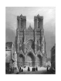 Notre Dame Cathedral, Rheims, France, 1847 Giclee Print by A Varin