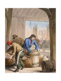 Herring Curing, C1845 Giclee Print by Benjamin Waterhouse Hawkins