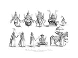 The Ten Abatars or Incarnations of Vishnu Giclee Print by A Thom