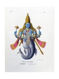 Vishnu, One of the Gods of the Hindu Trinity (Trimurt), C19th Century Giclee Print by A Geringer