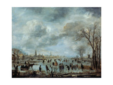 River View in the Winter, 17 Century Giclee Print by Aert van der Neer
