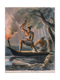 Indians Fishing, C1845 Giclee Print by Benjamin Waterhouse Hawkins