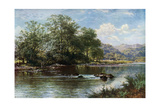 The Stream in Summer Time, 1887 Giclee Print by Benjamin Williams Leader