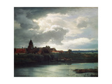Landscape with a River, 1866 Giclee Print by Andreas Achenbach