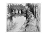 Vieux Canal, 1898 Giclee Print by Albert Baertsoen