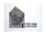 Great Chamber in the Second Pyramid of Ghizeh, Egypt, 1820 Giclee Print by Agostino Aglio
