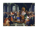 Athaliah Expelled from the Temple, Painted before 1697 Giclee Print by Antoine Coypel