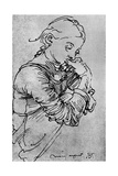 My Agnes, Durer's Wife Depicted as a Girl, 1495 Giclee Print by Albrecht Durer