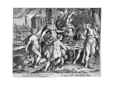 The Five Senses, Late 16th Century Giclee Print by Adriaen Collaert