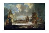 Ships in a Lagoon, 17th or Early 18th Century Giclee Print by Abraham Storck
