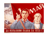 Soviet Poster Commemorating May Day, 1950 Giclee Print by A Bearob