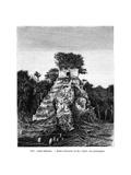 Mayan Ruins, Tikal, Guatemala, 19th Century Giclee Print by Alexandre De Bar