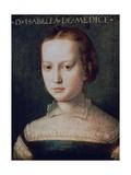 Isabella De Medici, 16th Century Giclée-tryk af Agnolo Bronzino