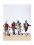 Troops of the Royal Guard, 12th-16th Century Giclee Print by A Lemercier