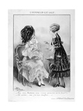 A Caricature About Two Bourgeois French Women, World War I, 1915 Giclee Print by Albert Guillaume