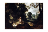 Rocky Landscape with Saint Francis, Early 17th Century Giclee Print by Abraham Govaerts